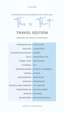 THIS OR THAT TRAVEL EDITION
