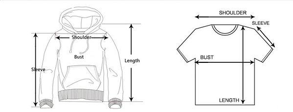 Extra Salty Unisex T-Shirt Size Chart (1