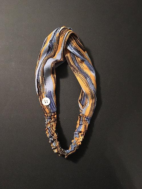 Textured Chiffon Blue/Gold