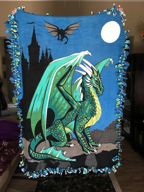 Dragon Fleece Tie Blanket