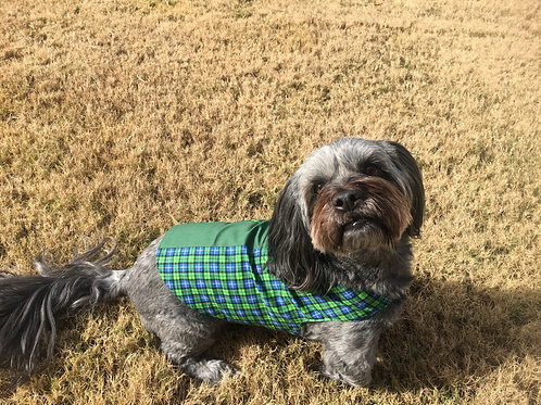 Blue/Green Plaid Dog Jacket