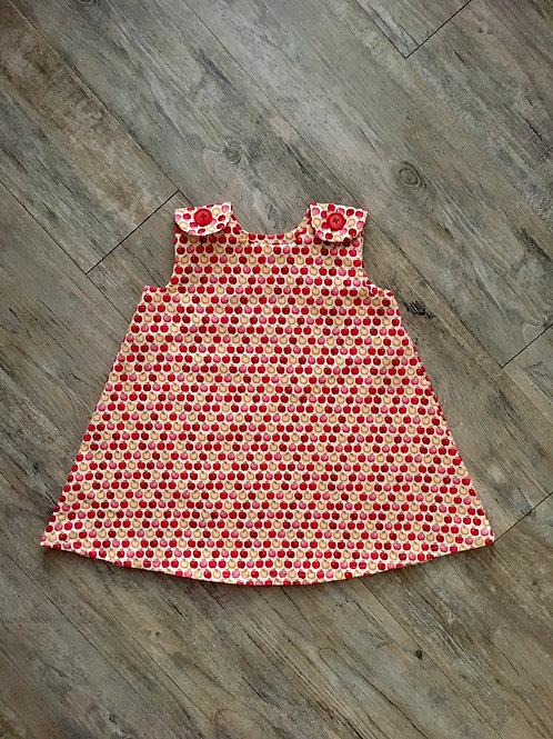 Red Apples Baby Girl Dress