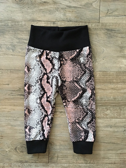 Pink Snakeskin Baby Joggers