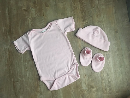 Baby Onesie with Hat and Booties