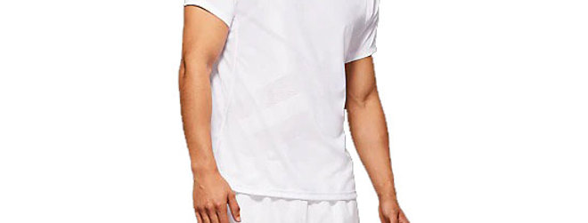 Playera Club M SS Tee, Blanco, Asics