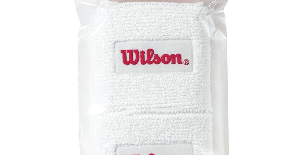 Muñequera Doble Blanca, Wilson