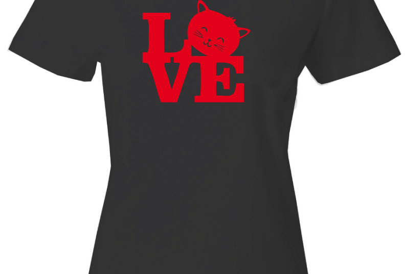 Playera Forester, M Cat Love 2 Negro