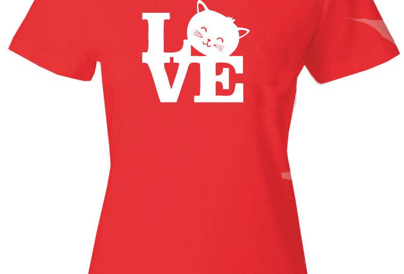 Playera Forester, M Cat Love 2 Roja