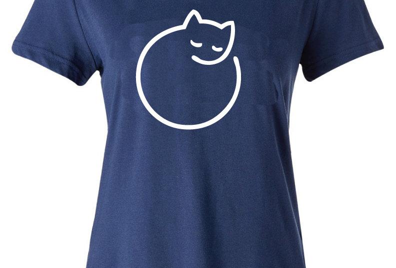 Playera Forester, M Cat Sleep Azul