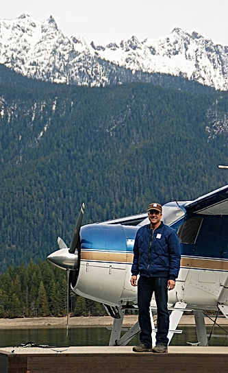 Jay PerryCook with The Olympic Mountains in the background