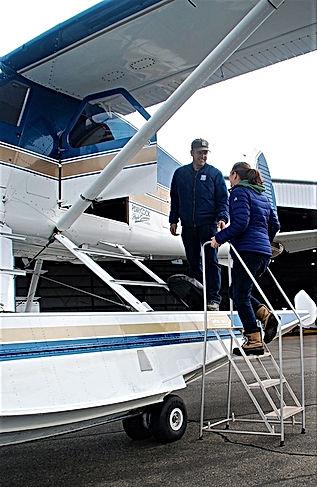 Jay PerryCook and Tahirih PerryCook Tacoma Narrows Airport