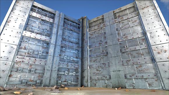 Metal Behemoth Gate with Door (1) OFFICIAL PS4 PVP