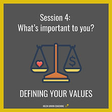 Career Coaching Defining Your Values