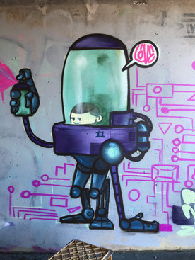 Spraybot character designer and painted by me