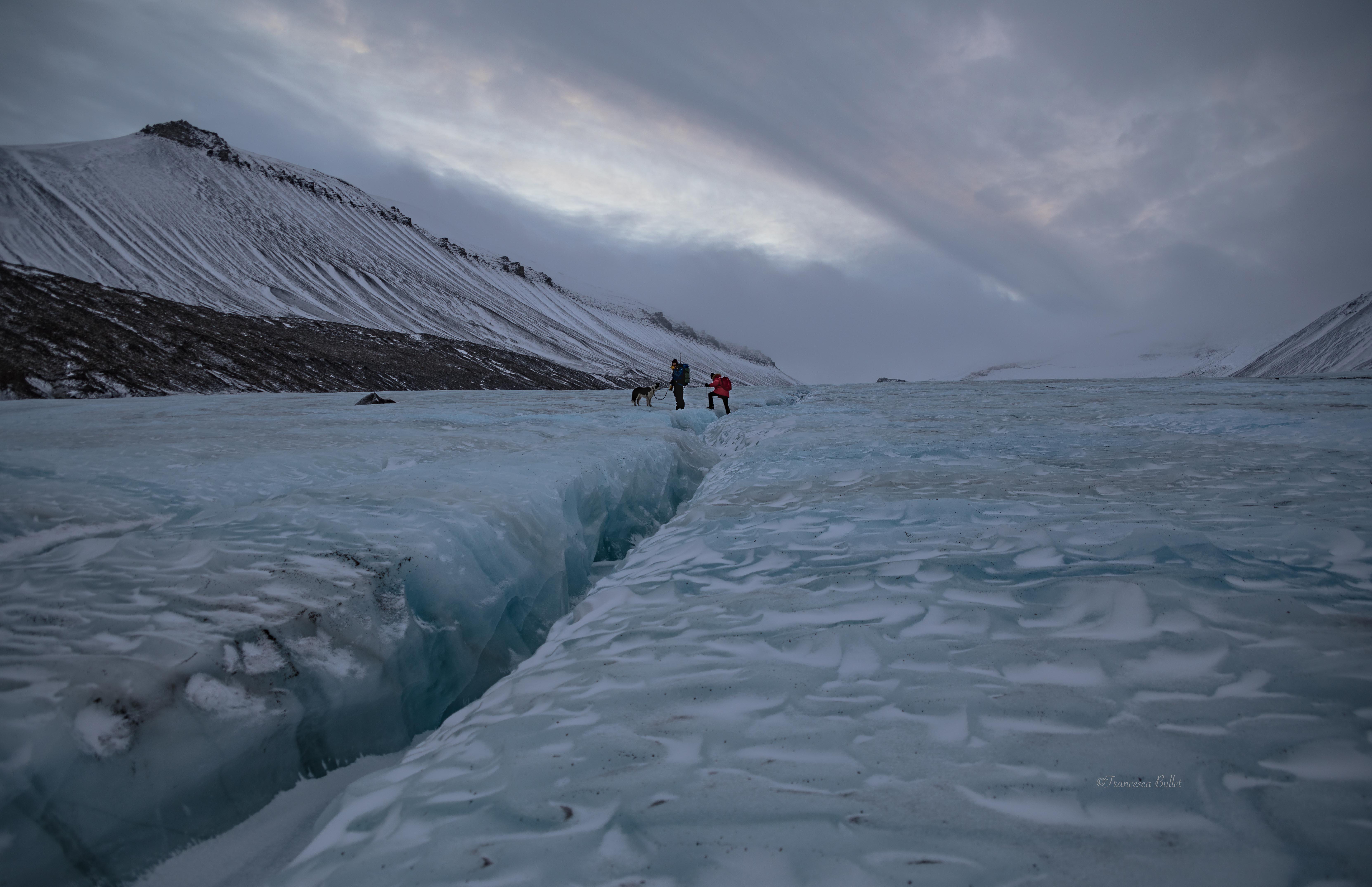 Svalbard Island, Larsbreen Glacier