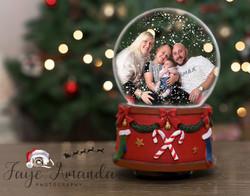 Christmas snow globe edit
