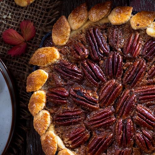 Warm Caramel Pecan Pie