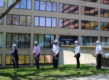Construction commences at landmark Burlington bank building