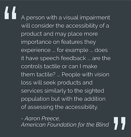 American Foundation for the Blind pullquote