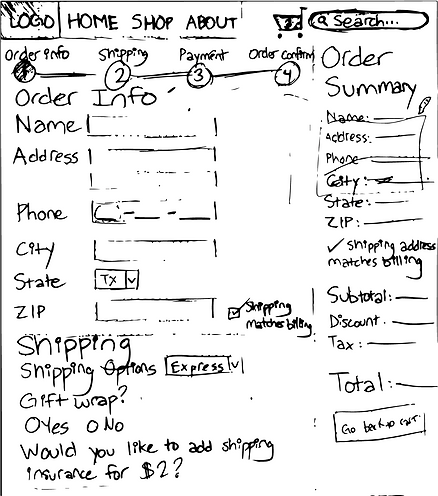 PocketPower Checkout Wireframe