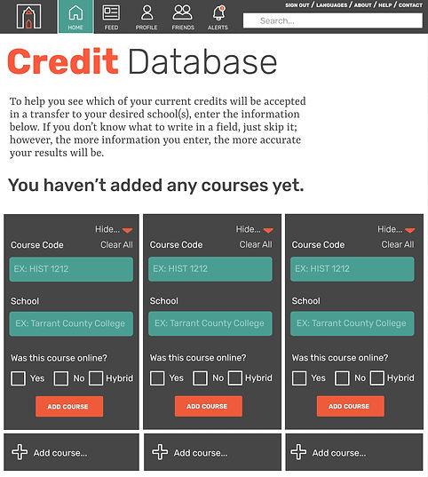 TransferQuest Credit Database