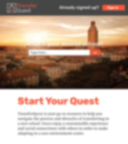 TransferQuest Landing Page
