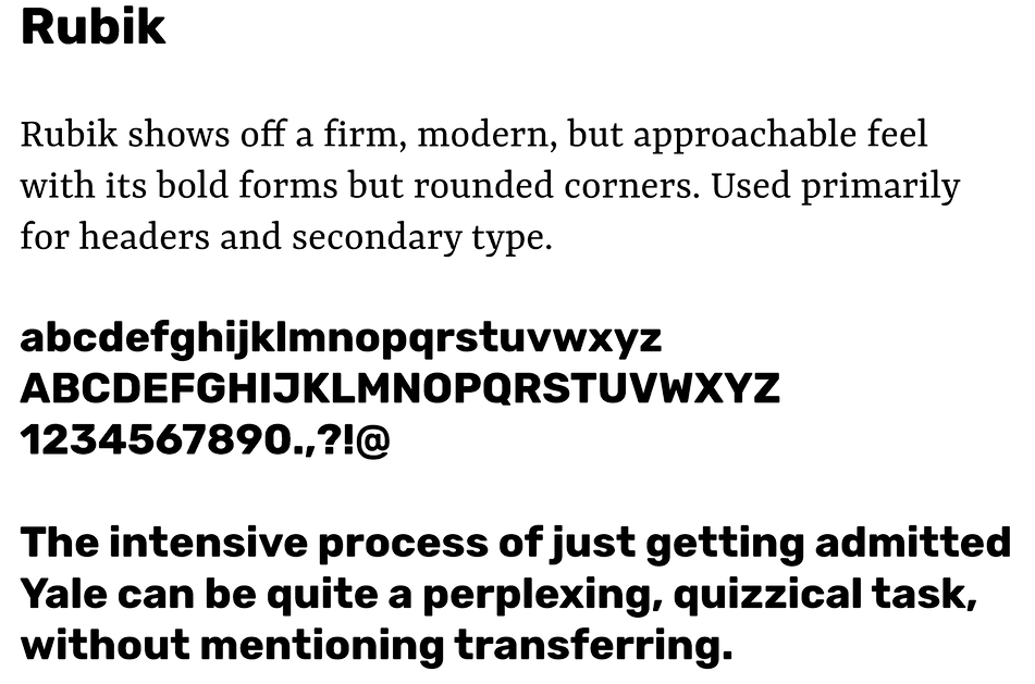 TransferQuest Typography