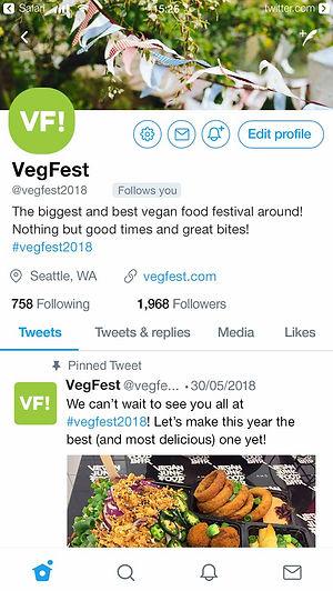 VegFest Twitter