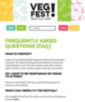 VegFest Desktop FAQ