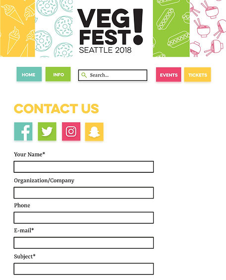 VegFest Desktop Contact