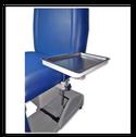 Charola porta instrumentos colocada en el asiento  con altura variable