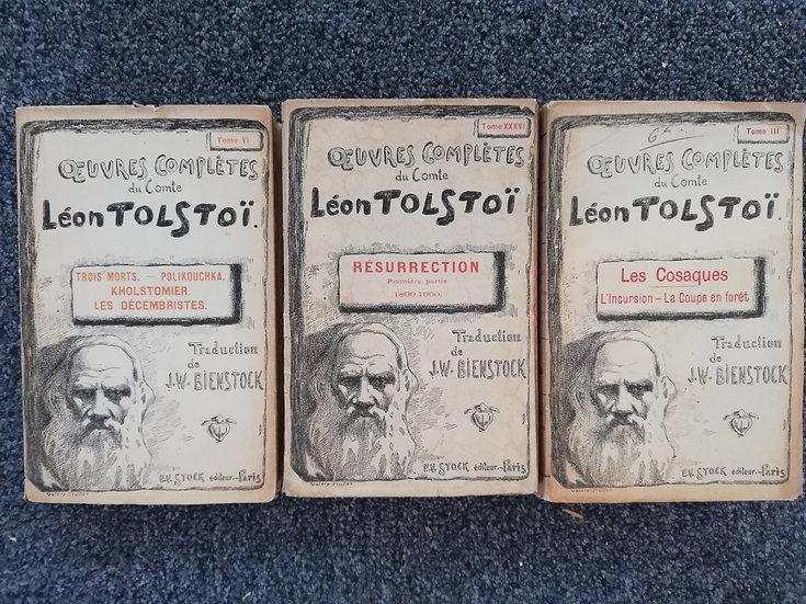 Tolstoi Léon - 3 tomes - 1902 - Trad J Bienstock
