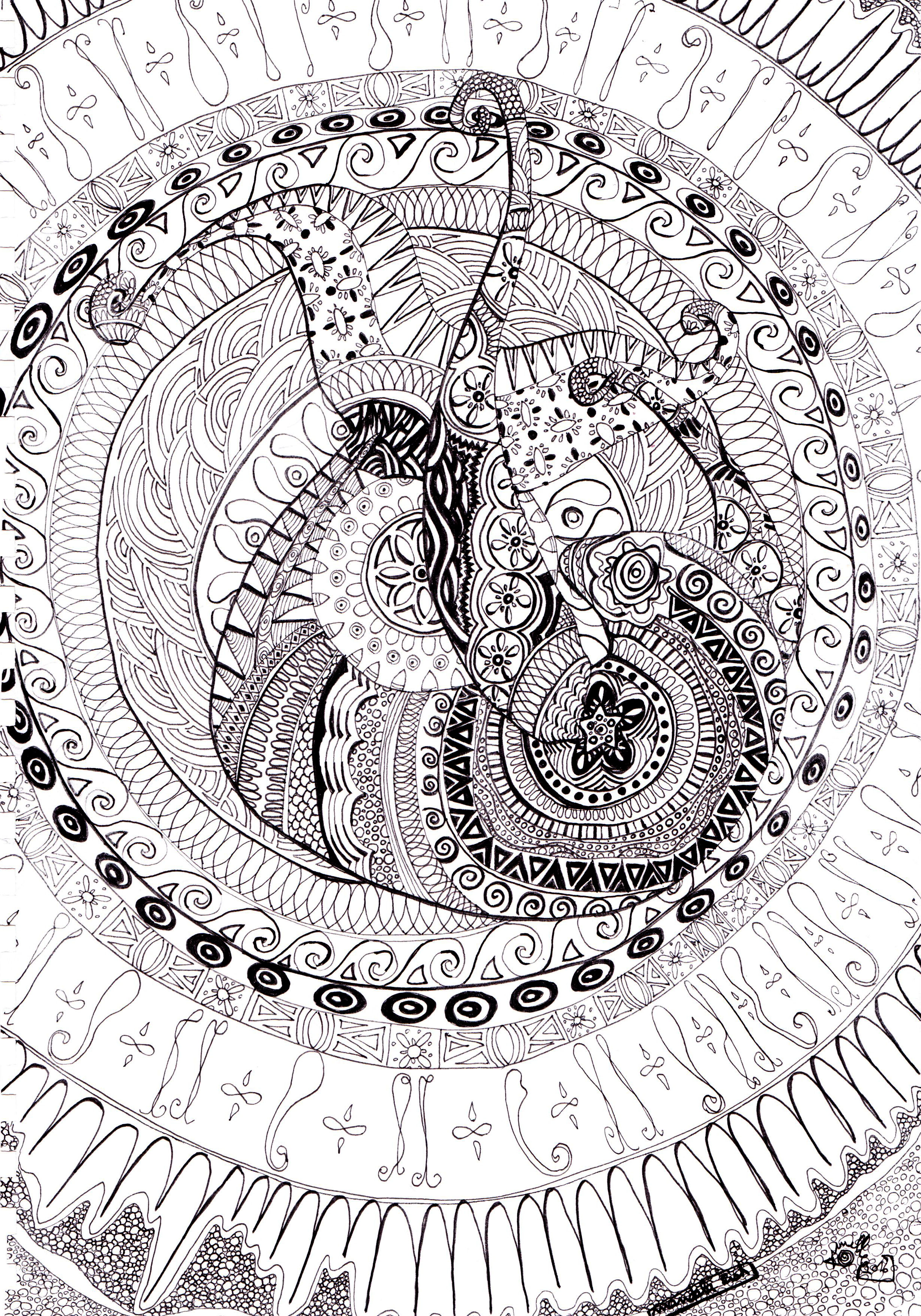 Mandala fish