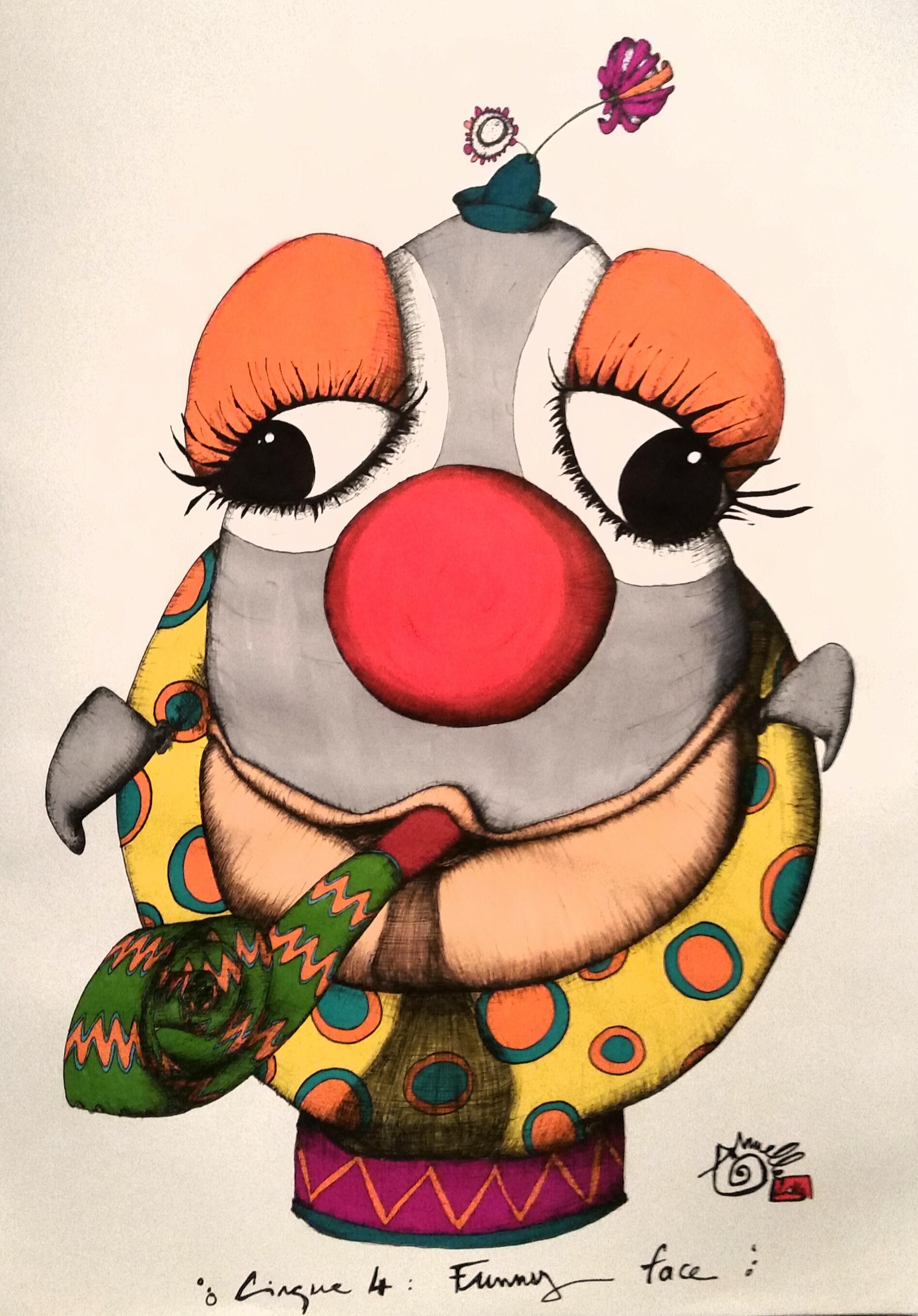 Cirque' funny face