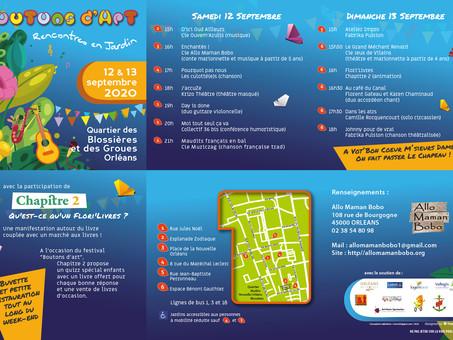 """Flori'Livres au Festival """"Boutons d'Art"""", le 13 septembre, de 15h à 18h"""