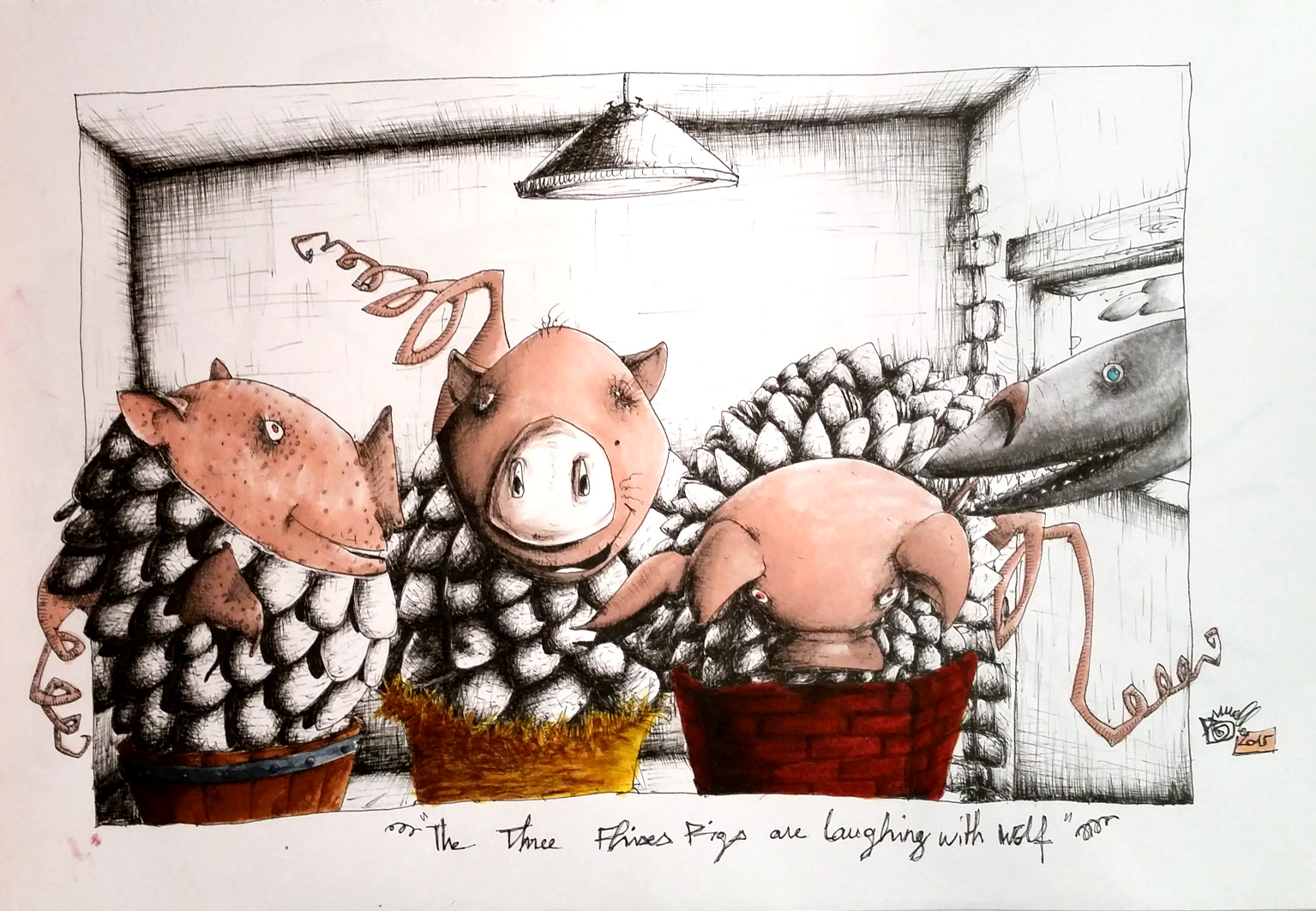 the three fish pigs