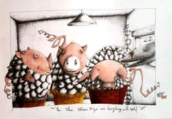 the three fish pigs