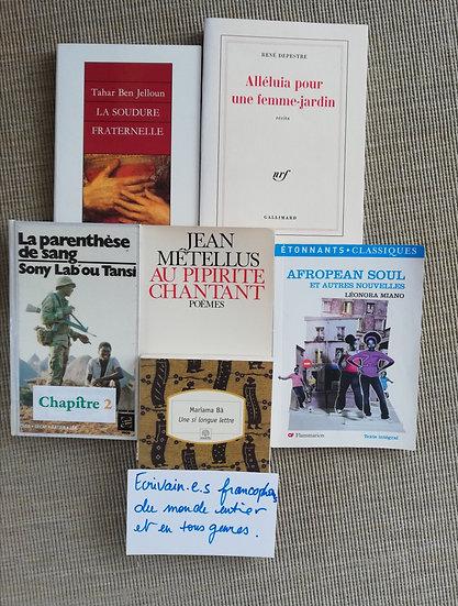 Pack : Ecrivain-e-s francophones du monde entier