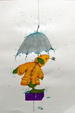 Sous la pluie