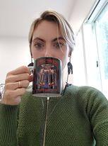 Jacinta & her coffee!
