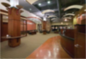 Transaction and teller line furnishings.  Adjustable height teller line solutions.