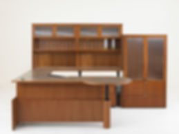 Executive Adjustable Height Desk and Furniture