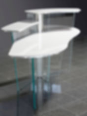 Reception stations solutions. Designed and built to your needs ADA compliant solutions.