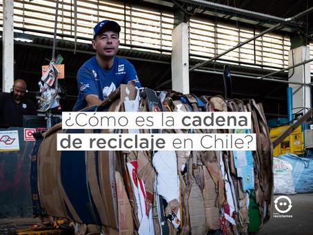 ¿Cómo es la cadena de reciclaje en Chile?
