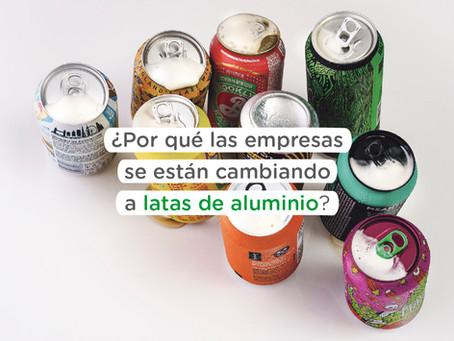 ¿Por qué algunas empresas se están cambiando a latas de aluminio?