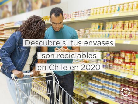 Descubre si tus envases son reciclables en Chile en 2020