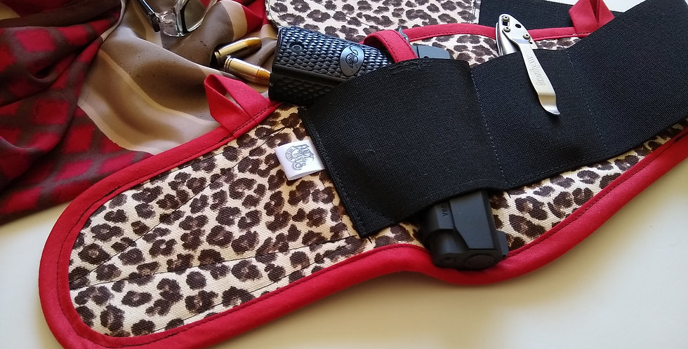 Concealed Carry Thigh Holster - Desert Leopard
