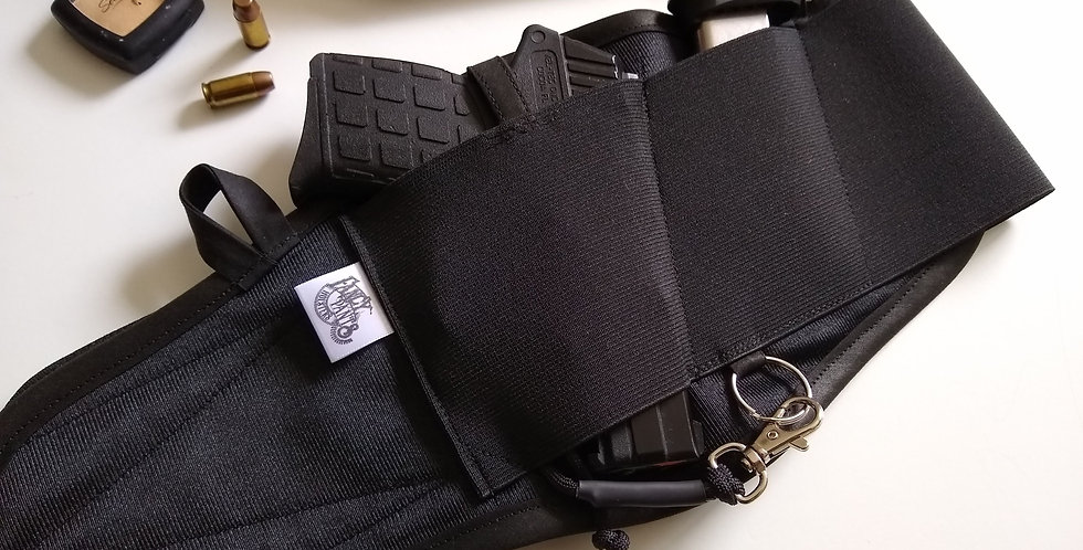 Concealed Carry Thigh Holster - Solid Black