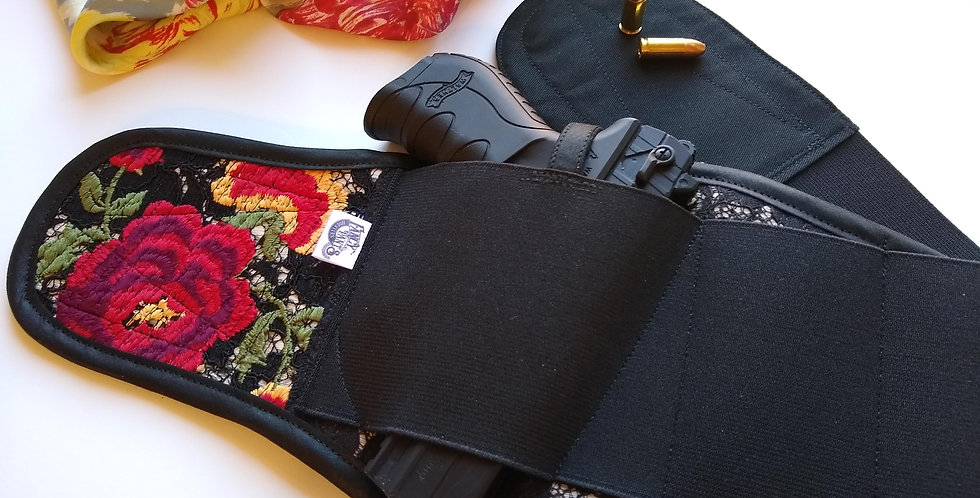 Concealed Carry Thigh Holster - Spanish Rose
