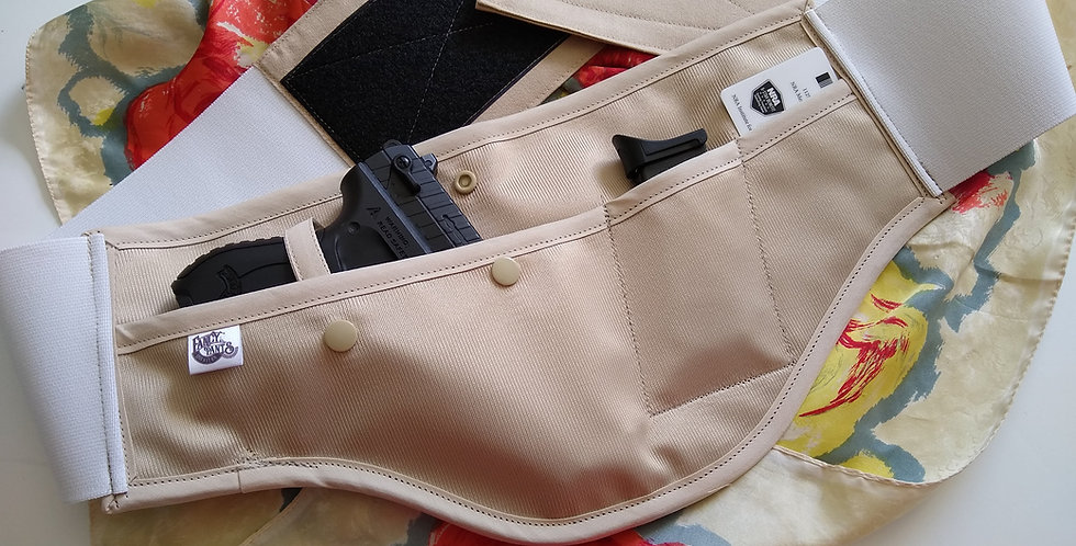 Concealed Carry Waist Holster - Solid Tan